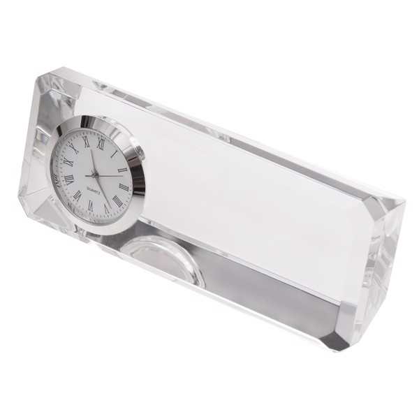 Crisitalino paperweight with clock