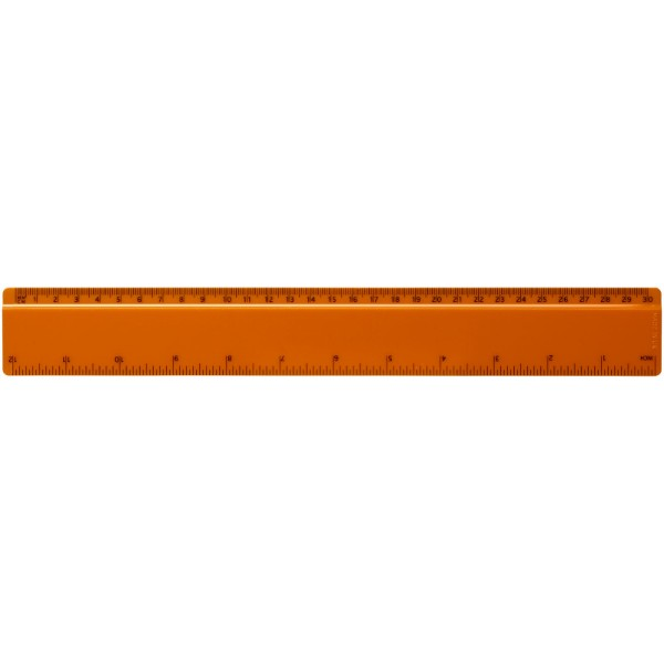 Renzo 30 cm plastic ruler - Orange
