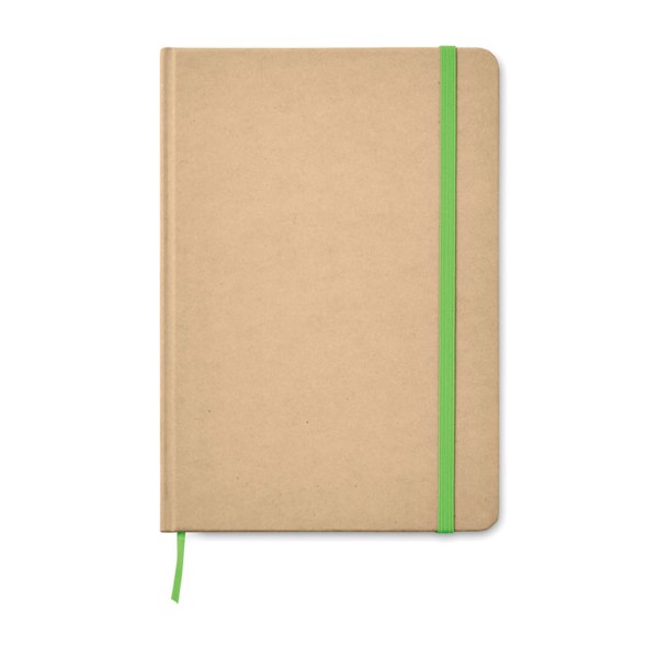 A5 Notebook recycled carton Everwrite - Lime