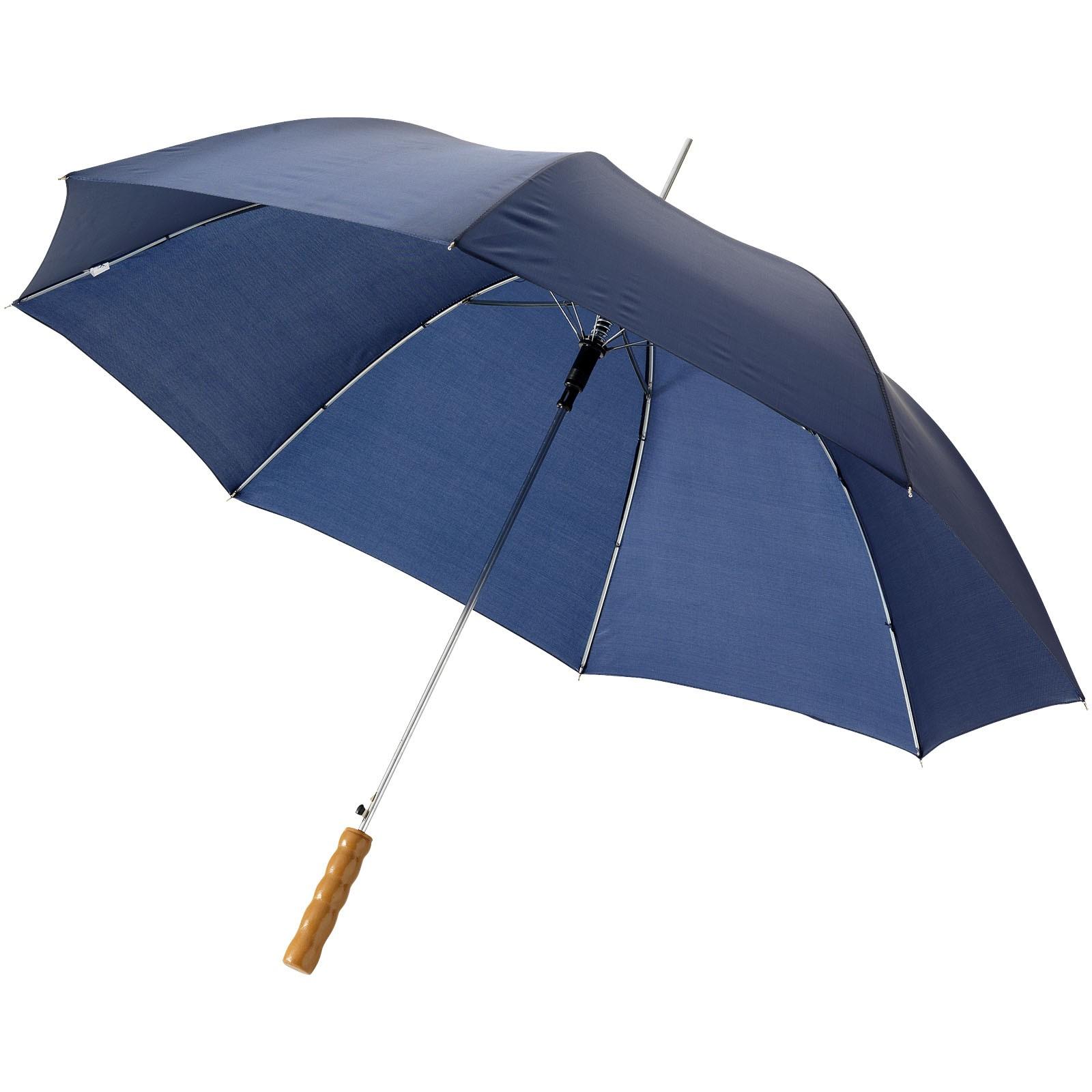 """23"""" deštník Lisa s automatickým otvíráním a dřevěnou rukojetí - Navy"""