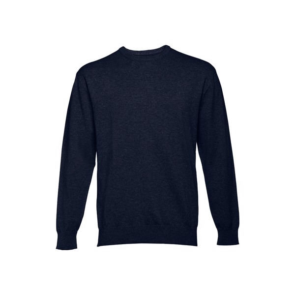 THC MILAN RN. Pánský svetr s kulatým výstřihem - Námořnická Modrá / XL