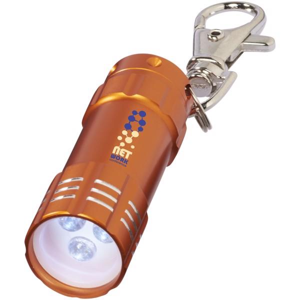Klíčenková LED svítilna Astro - 0ranžová