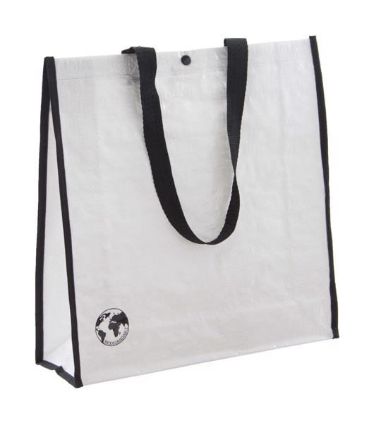 Shopping Bag Recycle - White / Black