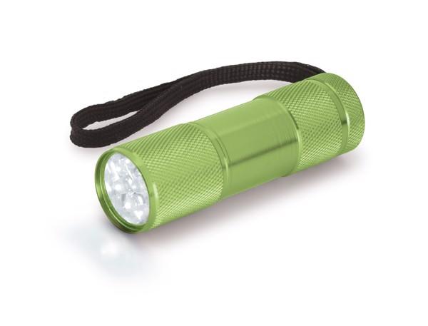 FLASHY. Torch in aluminium - Light Green