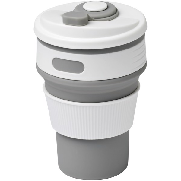 Cora 350 ml collapsable tumbler - Grey