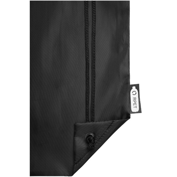 Oriole RPET drawstring backpack - Solid black
