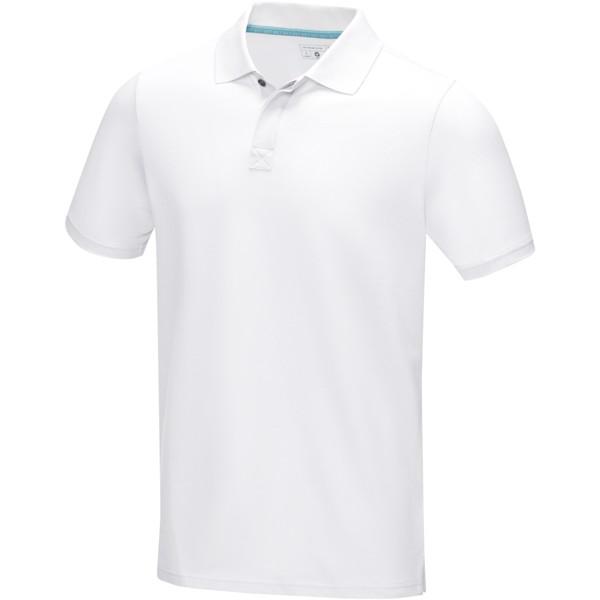 Polo Graphite bio GOTS manches courtes homme - Blanc / XL