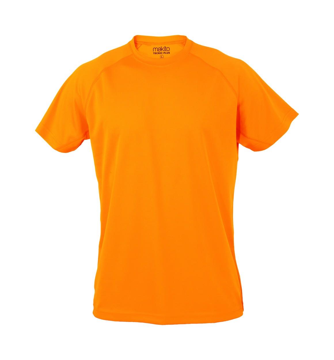 Tricou Adulți Tecnic Plus T - Portocaliu Fluorescent / XXL