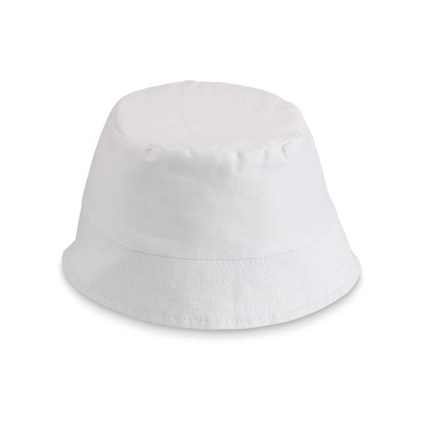 PANAMI. Bucket hat for kids - White