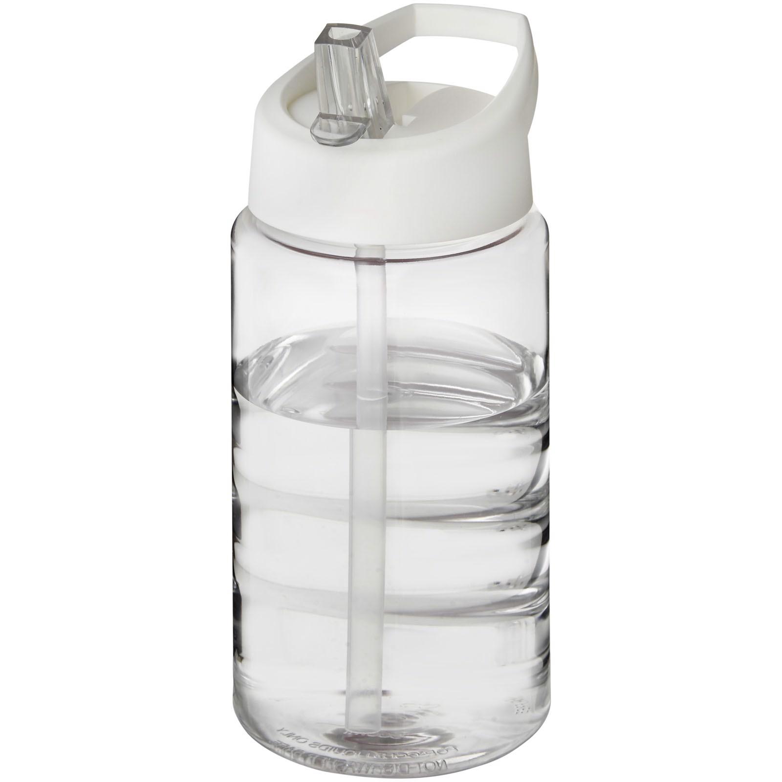 Sportovní láhev svíčkem shubičkou H2O Bop 500 ml - Průhledná / Bílá