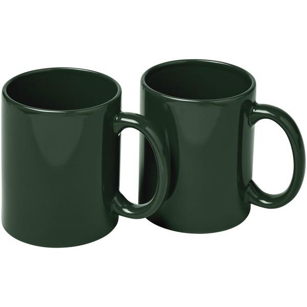 Ceramic Geschenkset mit 2 Bechern - Grün