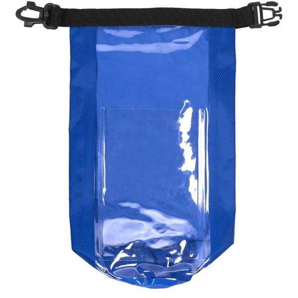 Nepromokavý vak Tourist, 2 l, outdoorový styl s pouzdrem na telefon - Světle modrá
