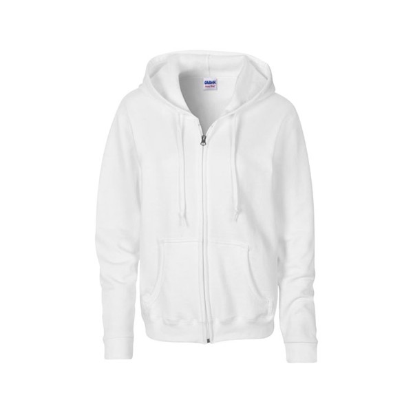 Ladies Sweatshirt 255/270 g Ladies Sweater Hood Zip 18600L - White / XL