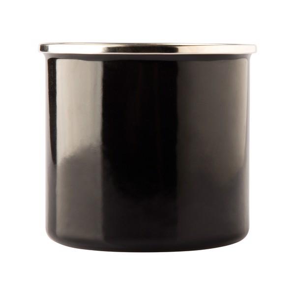 Kubek emaliowany Oldschool 500 ml - Czarny