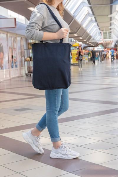 Bolsa de algodón reciclado Impact Aware ™ - Azul Marino