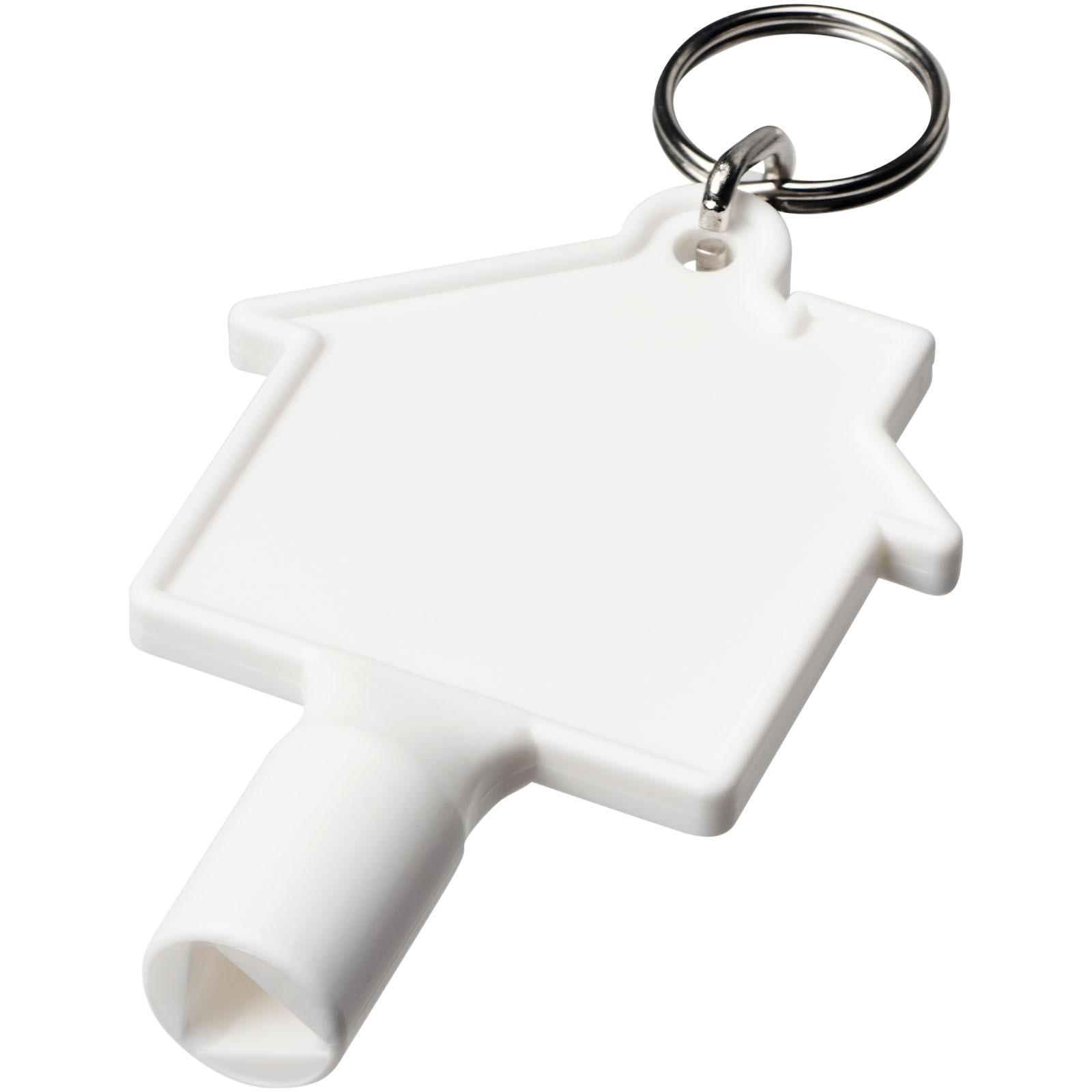 Klíčenkový klíč na měřidla Maximilian ve tvaru domu - Bílá