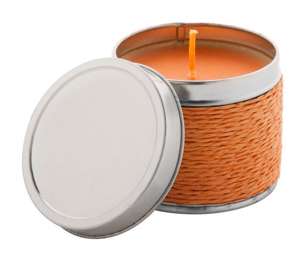 Scented Candle Shiva, Orange - Orange / Grey