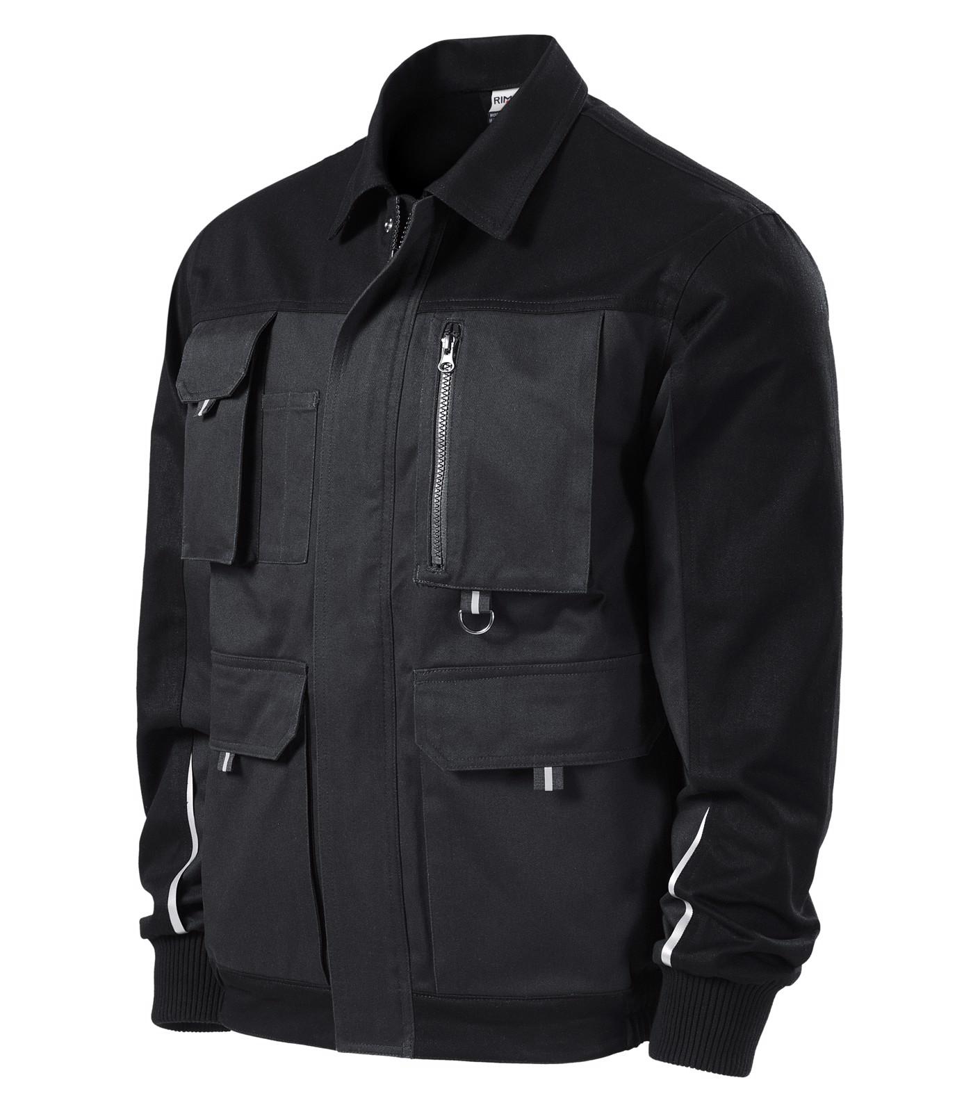 Pracovní bunda pánská Rimeck Woody - Ebony Gray / S
