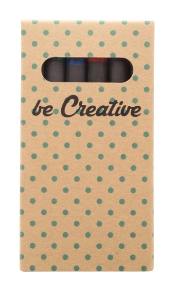 Custom 6 Pc Crayon Set Craxon 6 Eco - Natural