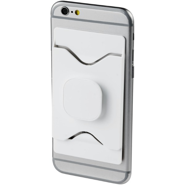 Purse mobile phone holder with wallet - White