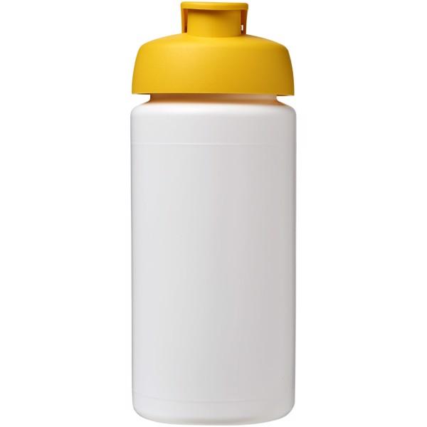 Sportovní láhev s vyklápěcím víčkem Baseline® Plus grip 500 ml - Bílá / Žlutá