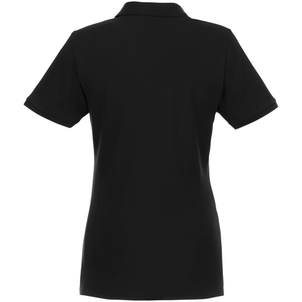 Beryl short sleeve women's GOTS organic GRS recycled polo - Solid black / L