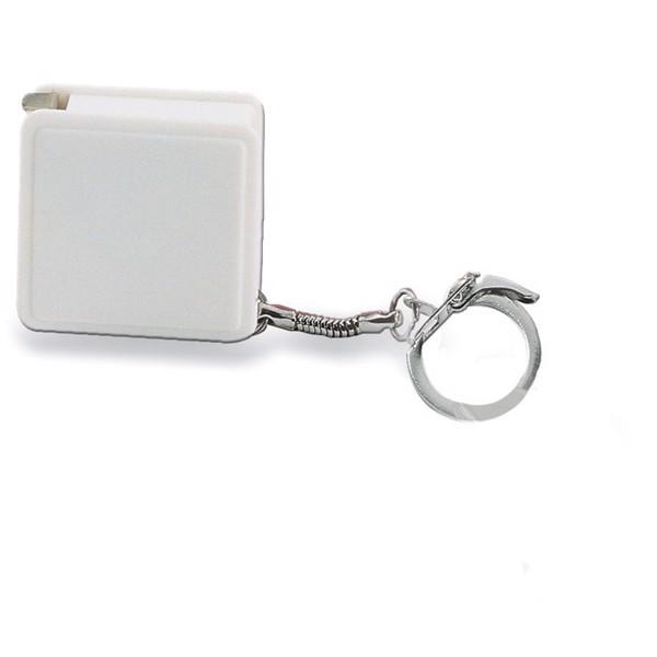 Rollbandmaß mit Schlüsselring Watford - weiß