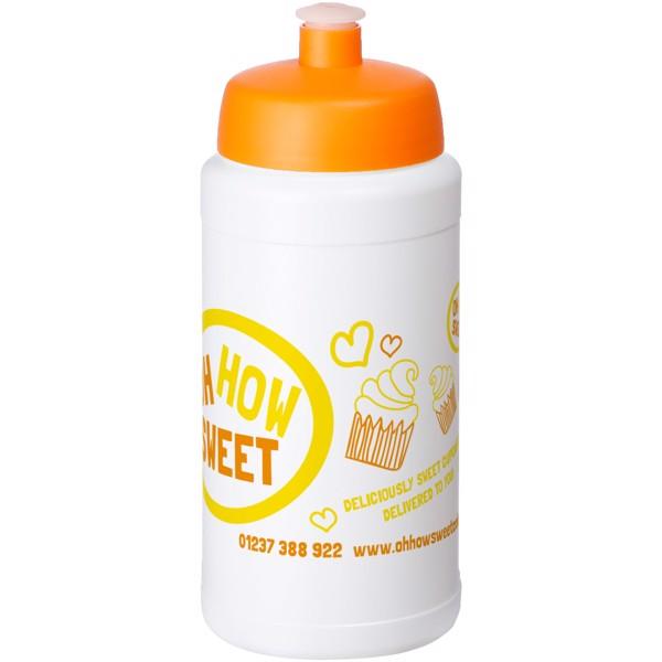 Baseline® Plus 500 ml bottle with sports lid - White / Orange