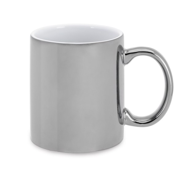 LAFFANI. Ceramic mug 350 ml - Silver