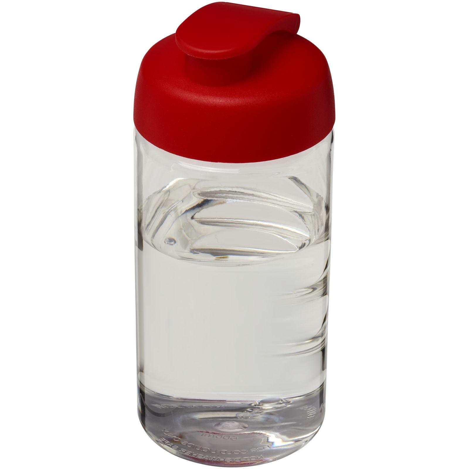 Sportovní láhev s vyklápěcím víčkem H2O Bop® 500 ml - Průhledná / Červená s efektem námrazy