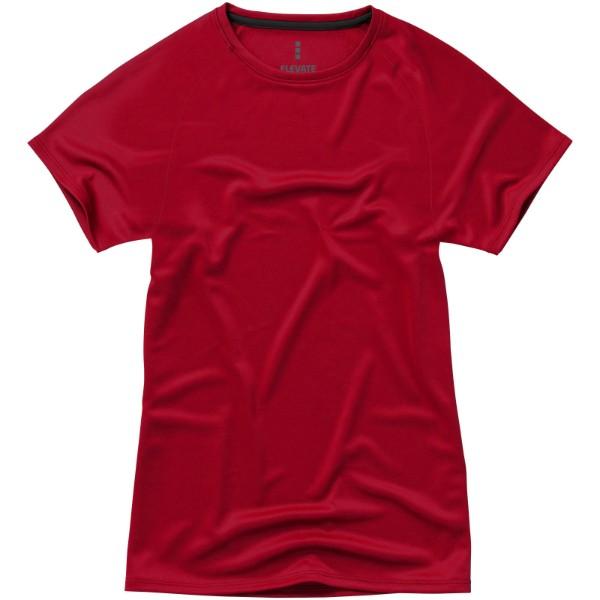 Dámské Tričko Niagara s krátkým rukávem, cool fit - Červená s efektem námrazy / S