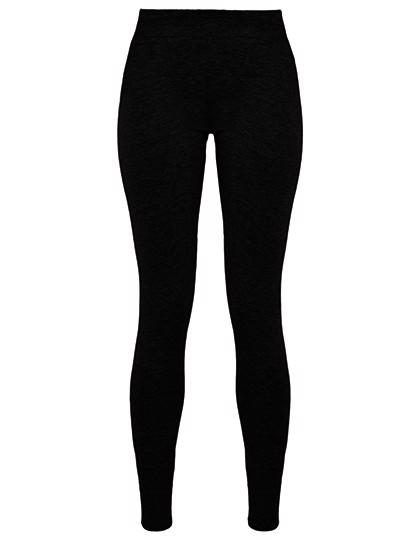 Ladies Stretch Jersey Leggings - Black / XS