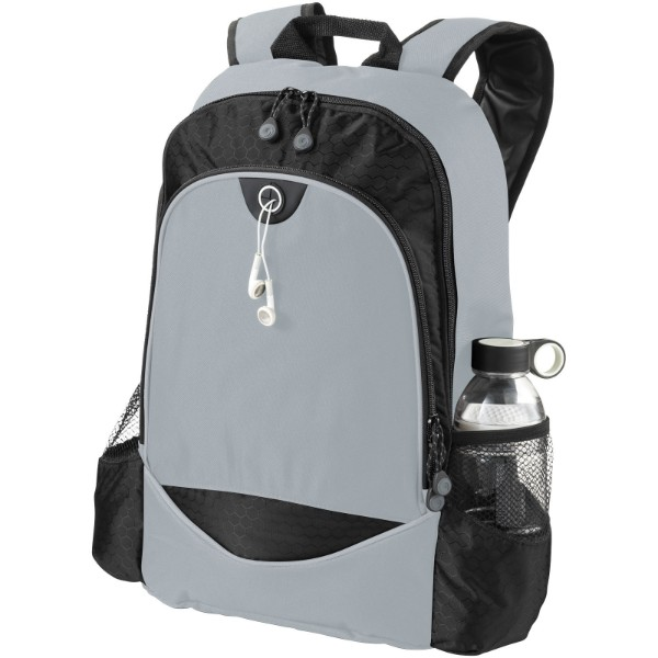 "Benton 15"" laptop backpack - Solid Black / Grey"