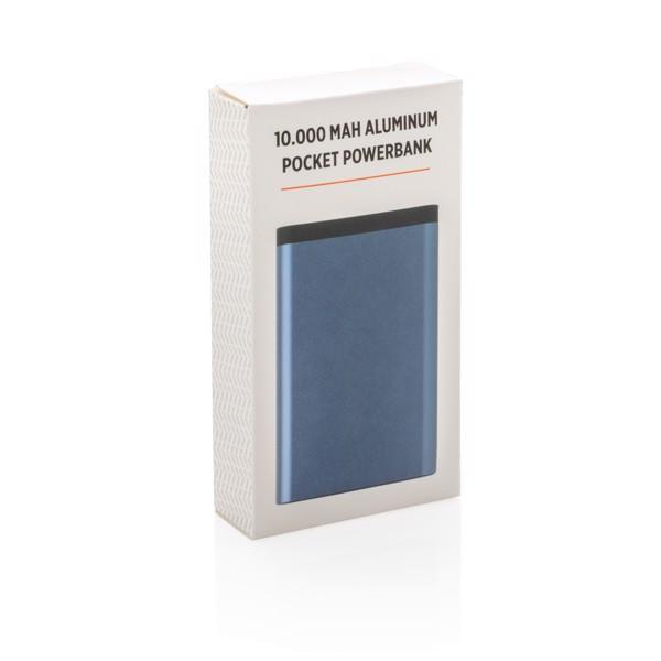 10 000 mAh alumínium zsebben hordható powerbank - Kék