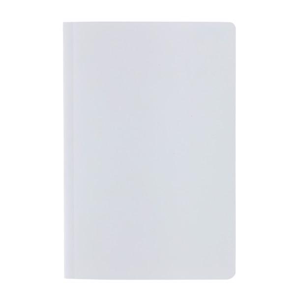 Kamenný poznámkový blok A5 Impact s měkkou vazbou - Bílá