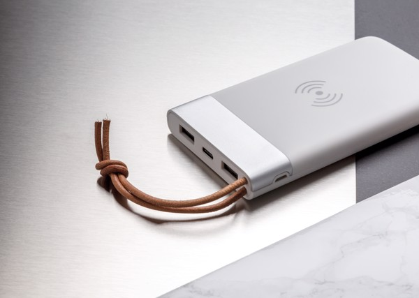 Aria 8.000 mAh 5W wireless charging powerbank - White