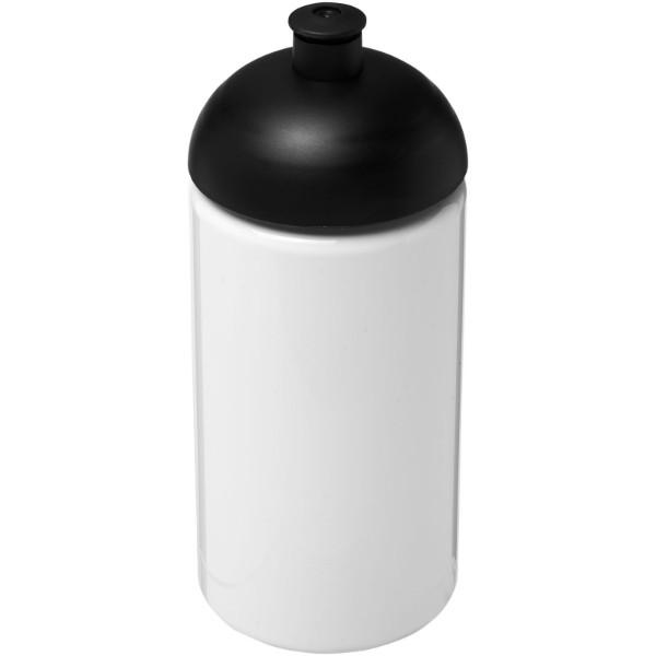 Láhev s kupolovitým víčkem H2O Bop® 500 ml - Bílá / Černá