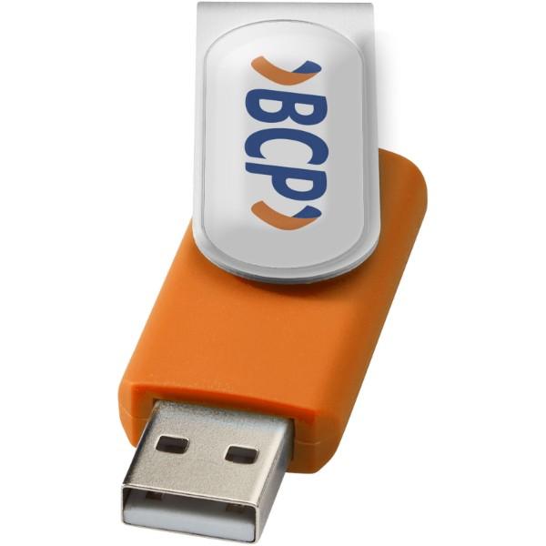 Pamięć USB Rotate-doming 4GB - Pomarańczowy / Srebrny