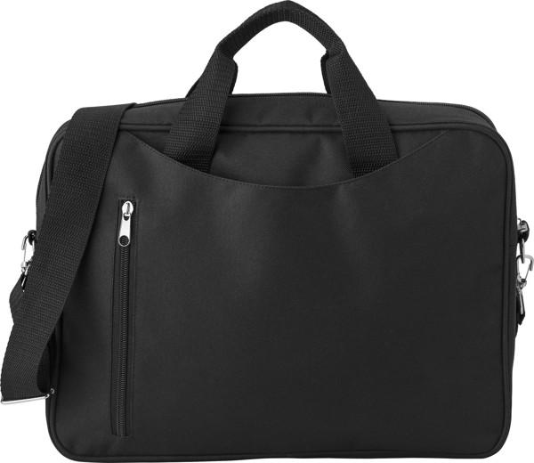 Polyester (600D) laptop bag - Black
