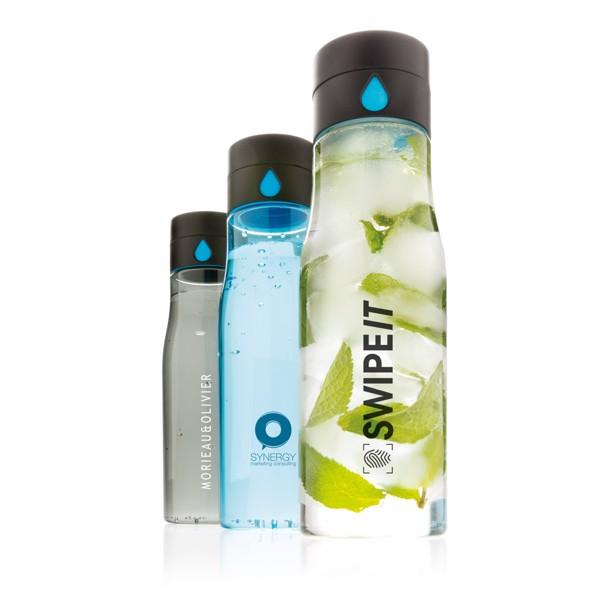 Tritanová láhev Aqua sledující pitný režim - Modrá
