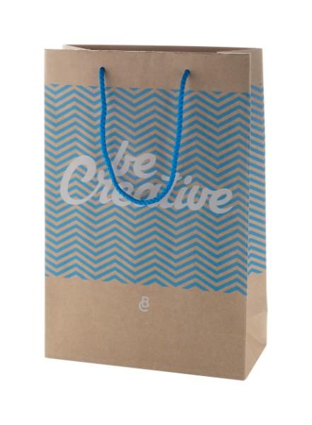 Custom Made Paper Shopping Bag CreaShop M, Medium - Multicolour