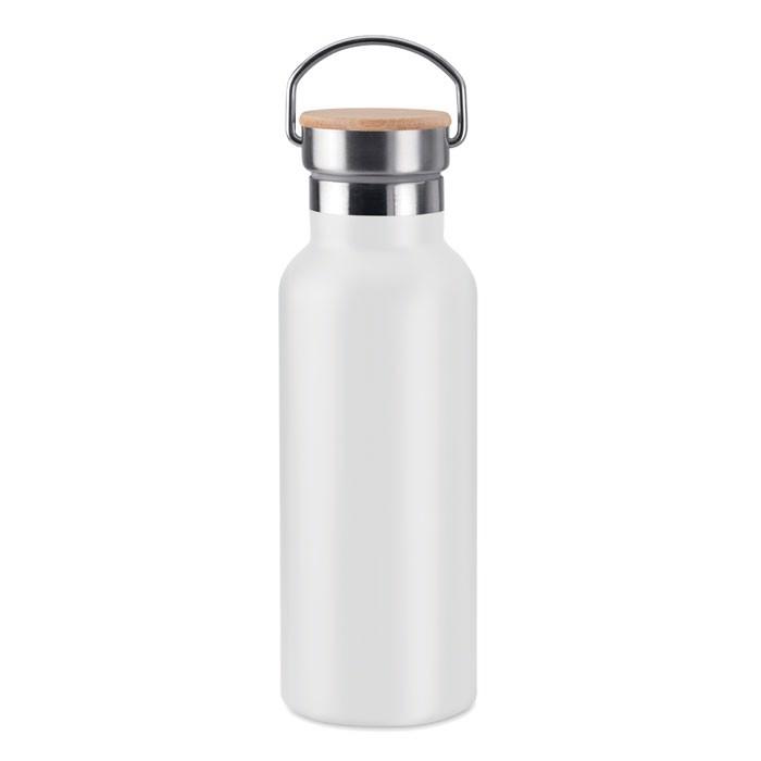 Double wall flask 500 ml Helsinki - White