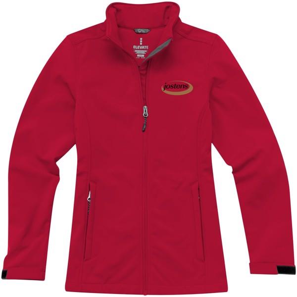 Dámská softshellová bunda Maxson - Červená s efektem námrazy / L