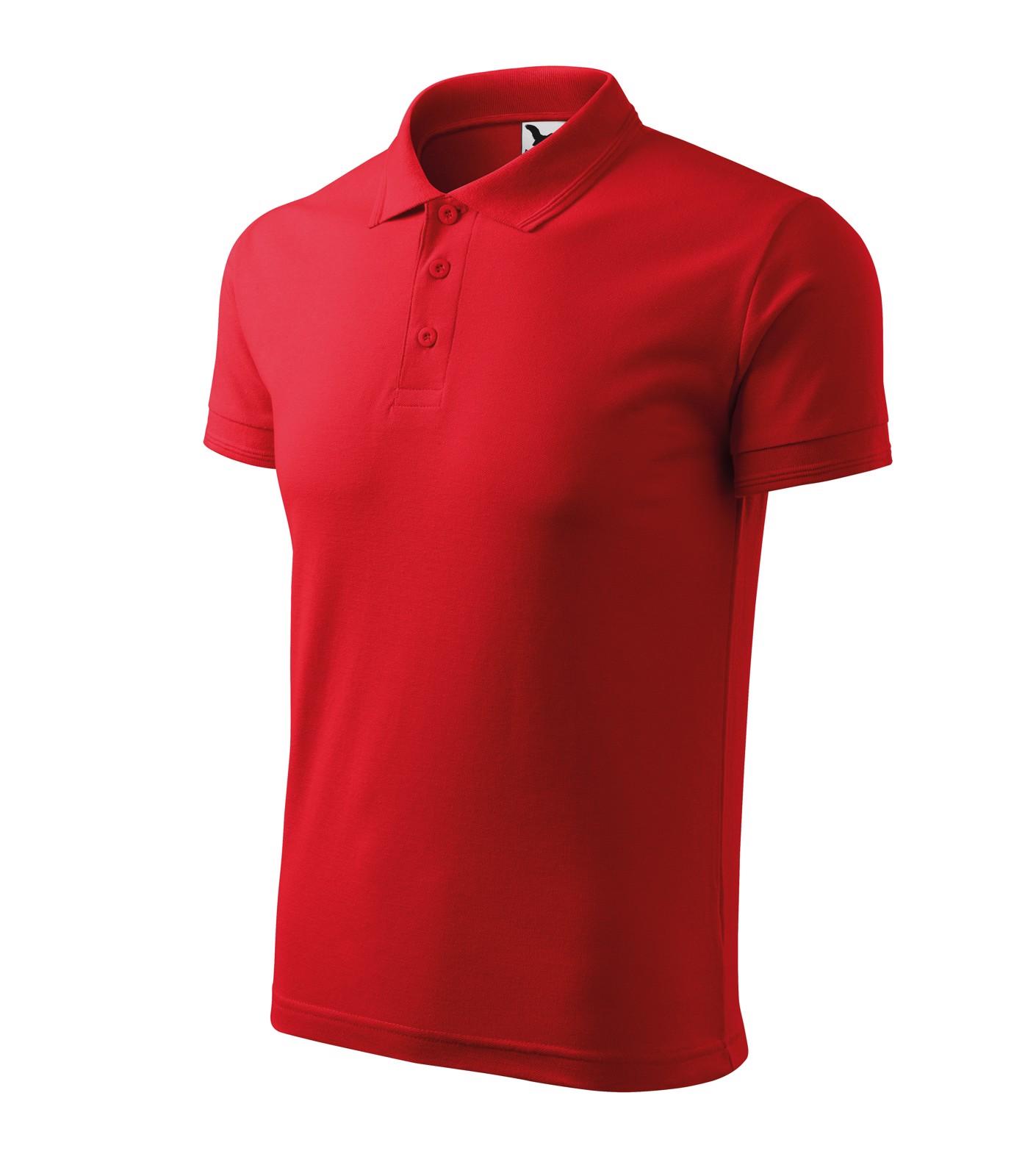 Polokošile pánská Malfini Pique Polo - Červená / 4XL