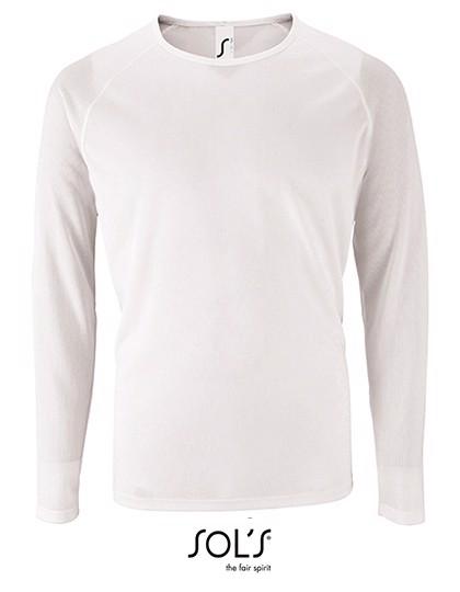 Men`S Long-Sleeve Sports T-Shirt Sporty - White / 3XL