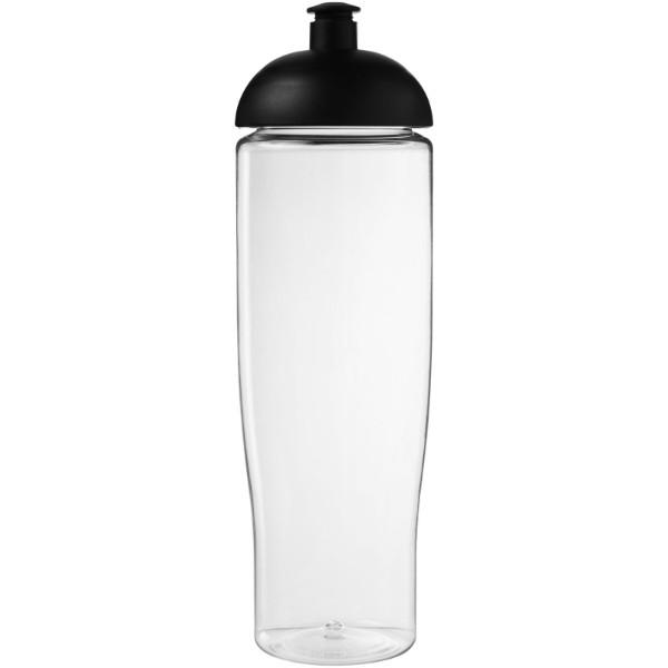 H2O Tempo® Bidón deportivo con Tapa Dome de 700 ml - Transparente / Negro intenso