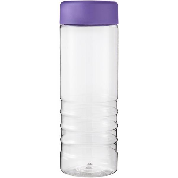 H2O Treble 750 ml screw cap water bottle - Transparent / Purple