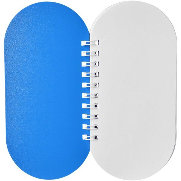 Poznámkový blok Capsule - Modrá / Bílá
