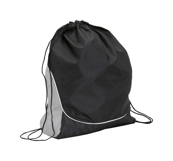 Drawstring Bag Dual - Black / Silver