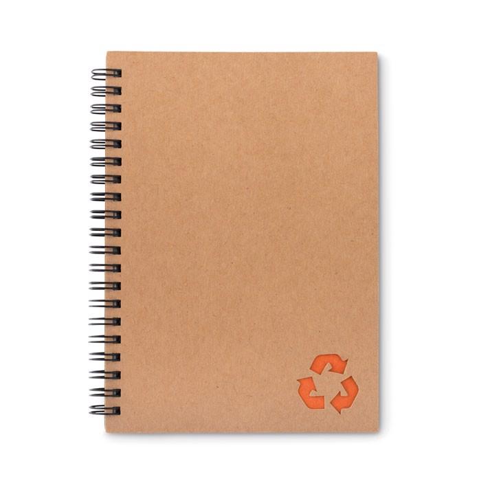 Notizbuch mit Steinpapier Piedra - orange
